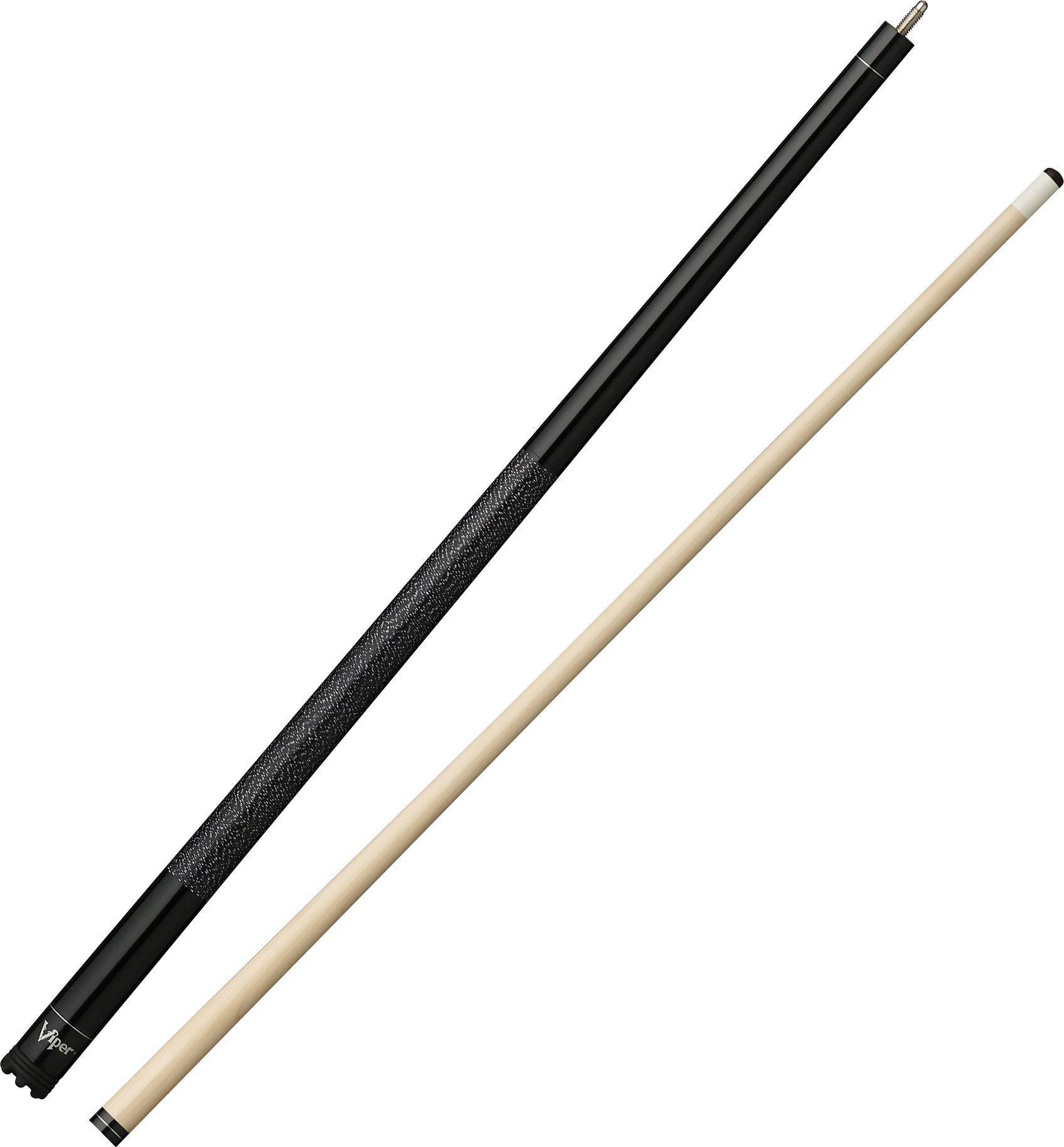Viper Jump Shot/Break 58'' 3-Piece Billiard/Pool Cue, Black, 20 Ounce