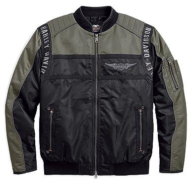 DAVIDSON® Men's Bomber HARLEY Mainstreet 17VM Nylon Jacket 98583 RvwZU
