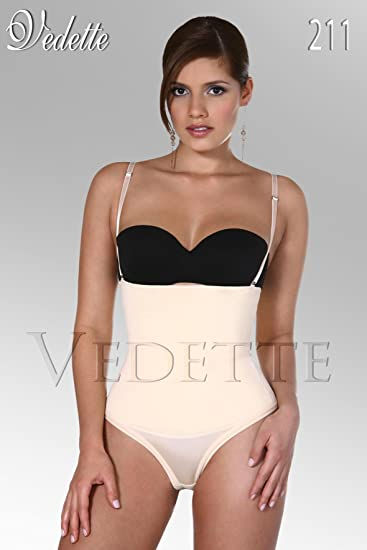 1c28217521d83 Image Unavailable. Image not available for. Color  Vedette 211 Strapless  Body Shaper Thong Fajas Shapewear