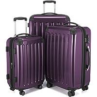 Hauptstadtkoffer Alex Set of 3 Luggages Suitcase Hardside Spinner Trolley Expandable TSA, Purple, Set