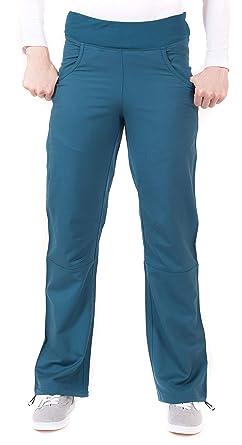1e8fdbf1e694bd LifeThreads Ergo Women's Modern Fit Ladies Yoga Inspired Pant- Caribbean  Blue- XST