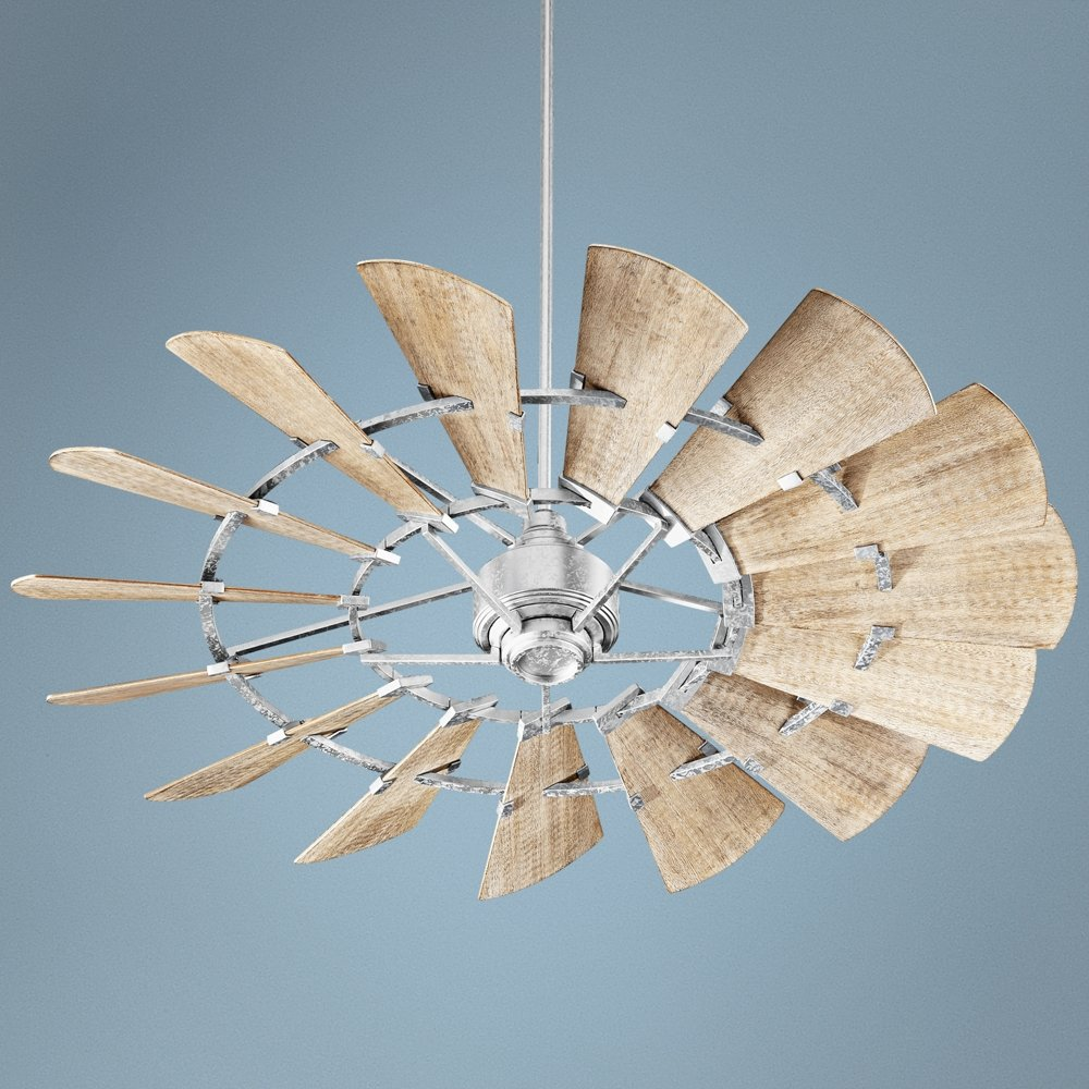 Quorum 196015 9 windmill ceiling fan in galvanized with ul damp quorum 196015 9 windmill ceiling fan in galvanized with ul damp weathered oak blades amazon aloadofball Image collections