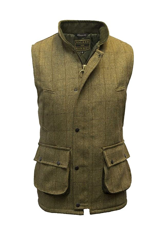 8 opinioni per Walker & Hawkes, gilet in tweed derby da caccia, gilet country da uomo, color