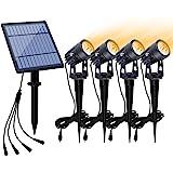 APONUO Solar Spotlights Landscape Lights Low Voltage Outdoor Solar Spotlight IP65 Waterproof 9.8ft Cable Auto On/Off…
