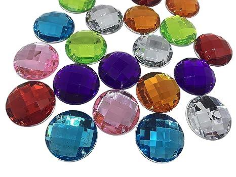 1baa22bb3114 21 redondas multicolores 30 mm grandes SS5 para coser brillantes piedras  para coser (redondas acrílico
