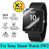 Sony SW2 SmartWatch 2 Glass Screen Protector, [2PACK] AnoKe(0.3mm 9H 2.5D) Best Tempered Glass Screen Protector Film Shield Guard For Sony SW2 SmartWatch 2 Glass 2PACK