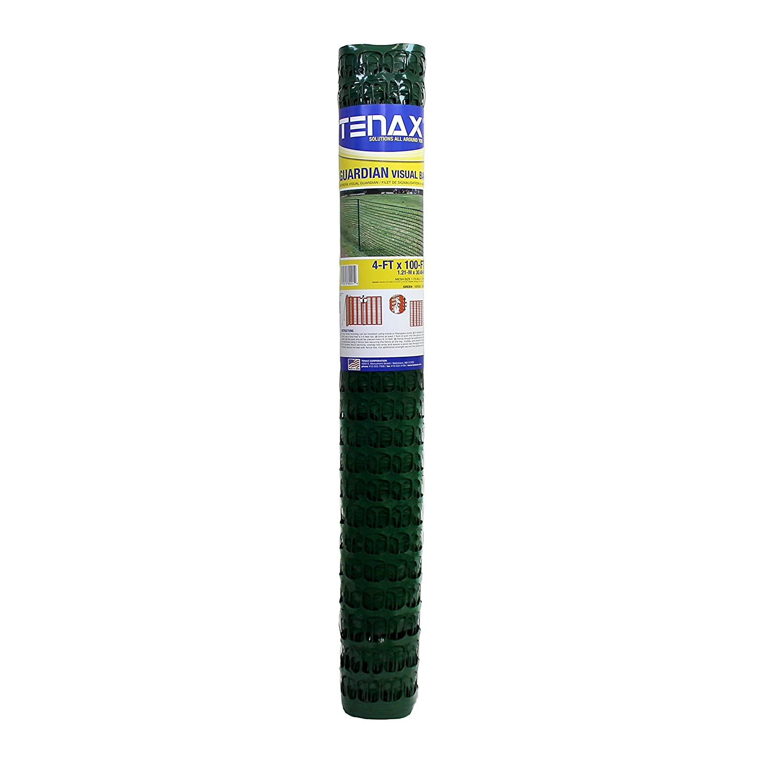 Tenax 5A030001 Guardian Warning Barrier, 4' x 100', Green