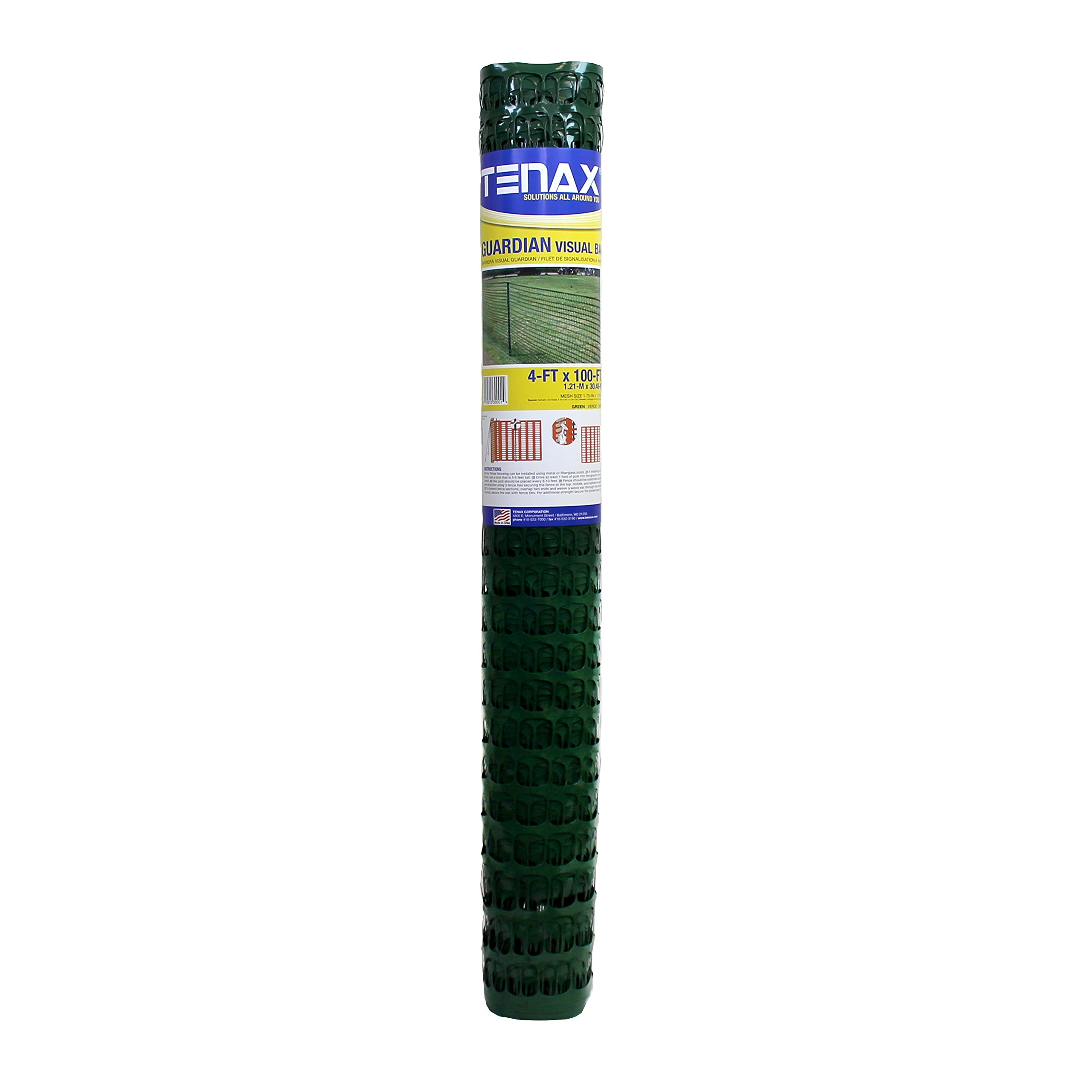 Tenax 5A030001 Guardian Warning Barrier, 4' x 100', Green by Tenax