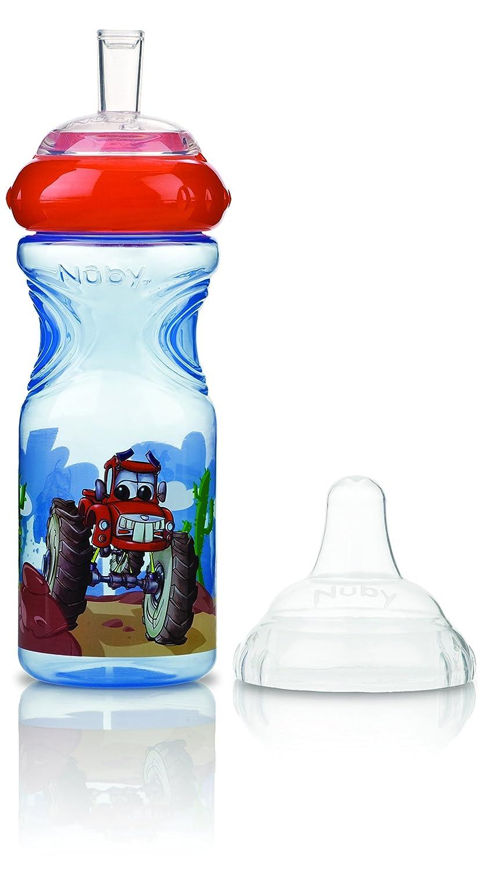 Nuby ID1230 Auslaufsicherer Emotion Sport-Sipper 300 ml mit Motiv und variablem Trinkfluss, Bisphenol A-frei; Farbe nicht frei wählbar