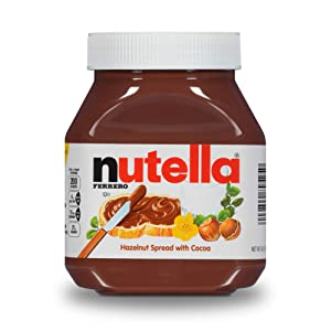 Nutella Chocolate Hazelnut Spread, Perfect Topping for Pancakes, 26.5 Oz Jar, 12 Pack