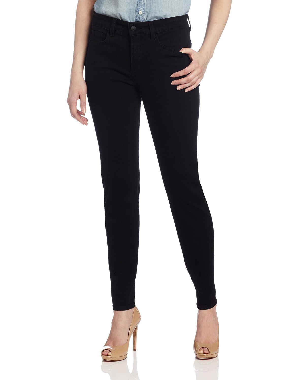 Black NYDJ Women's Petite Sheri Skinny Jeans