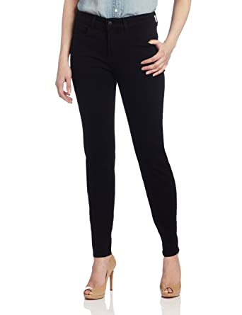 4ecf1fc3cf1 Image Unavailable. Image not available for. Color: NYDJ Women's Petite  Sheri Slim Jeans, Black 6P