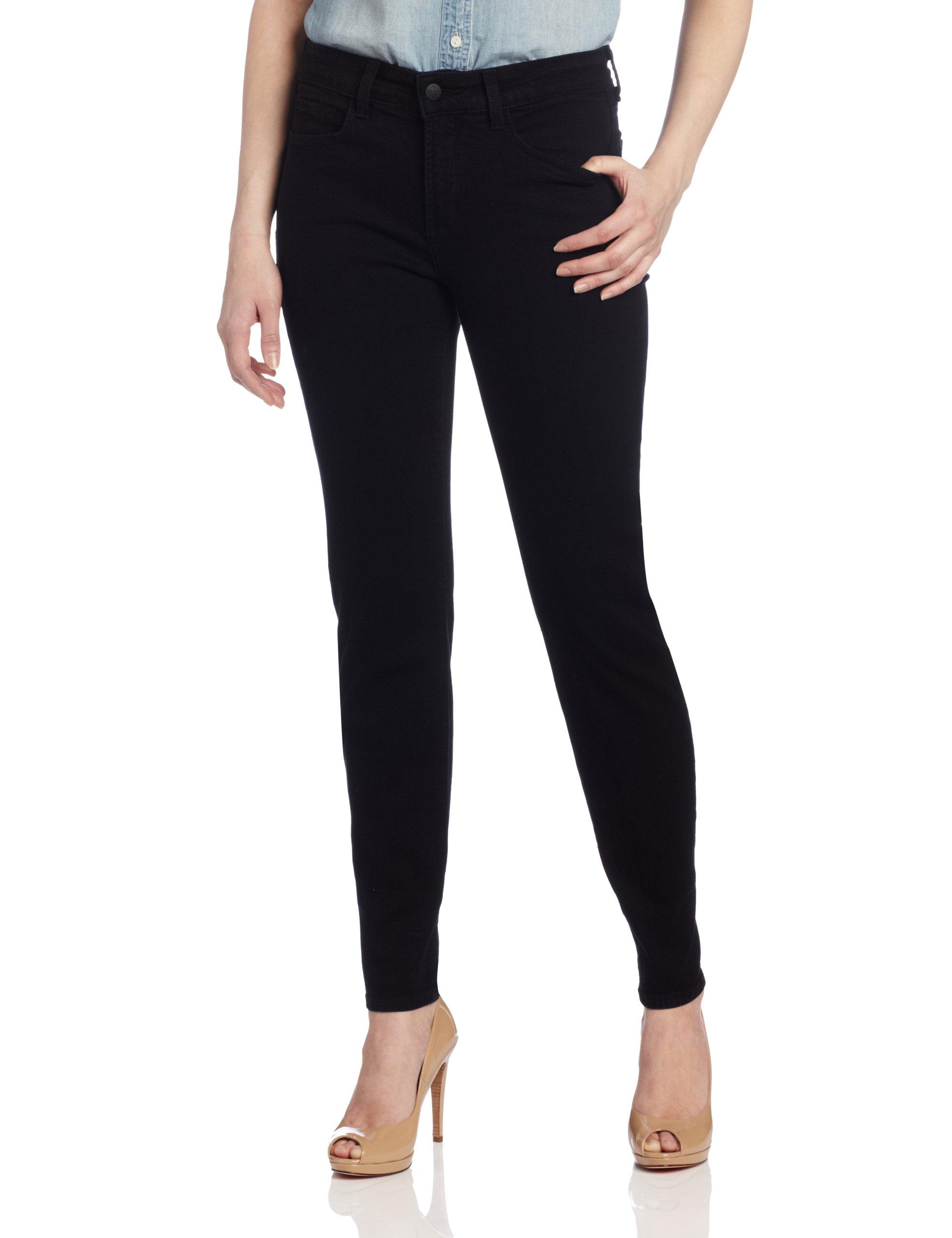 NYDJ Women's Petite Sheri Skinny Jeans, Black, 4P