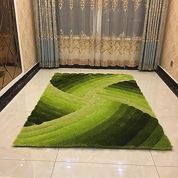 ZZHF Teppich 3D Dreidimensionale Filament Helle Seide Teppich Wohnzimmer  Schlafzimmer Nachttisch Teppich 5 Farben Erhältlich Größe