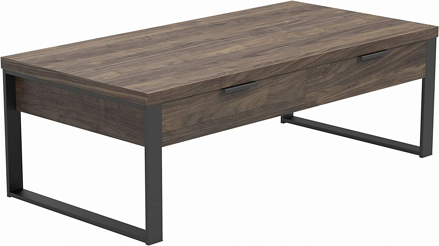 Coaster Home Furnishings Rectangular Coffee Table, Aged Walnut and Gunmetal