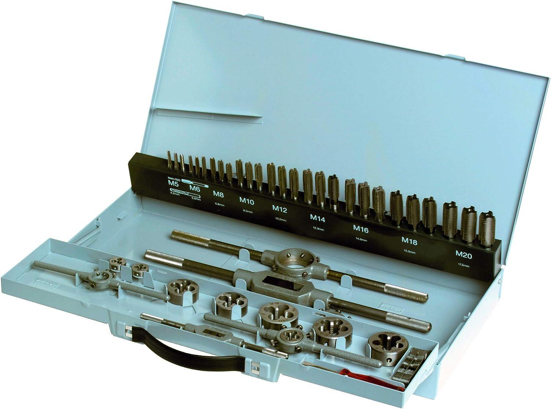Gertus 1101510 M3-M24 Tap and Die Set in Sheet Steel Case