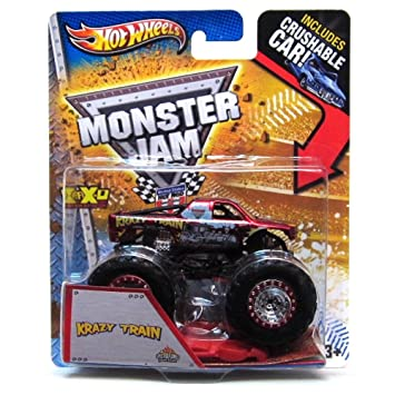 Amazon Com Monster Jam Maximum Destruction Krazy Train Includes