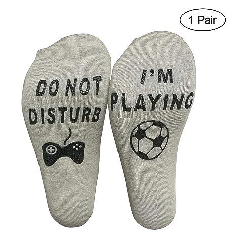 KOBWA Calcetines Tobilleros Divertidos, no molestes, Estoy Jugando Calcetines de algodón para los Amantes