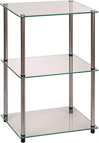 Convenience Concepts Designs2Go Classic Glass 3 Tier Lamp / End Table