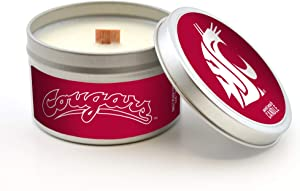Worthy Promo NCAA Washington State Cougars Scented Candle (Sweet Peach) 5.8 Oz