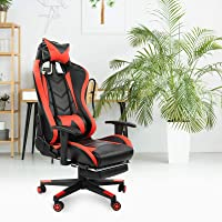 Gaming Chair, Ergonomic Office Chair Heavy Duty Adjustable Swivel Task Chair with Headrest and Lumbar Support for Adults…