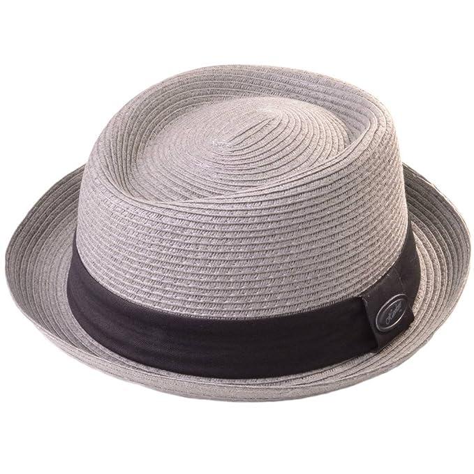 Hawkins - Sombrero Pork Pie - para hombre Gris gris claro 58cm  Amazon.es   Ropa y accesorios 7ed3f703d62