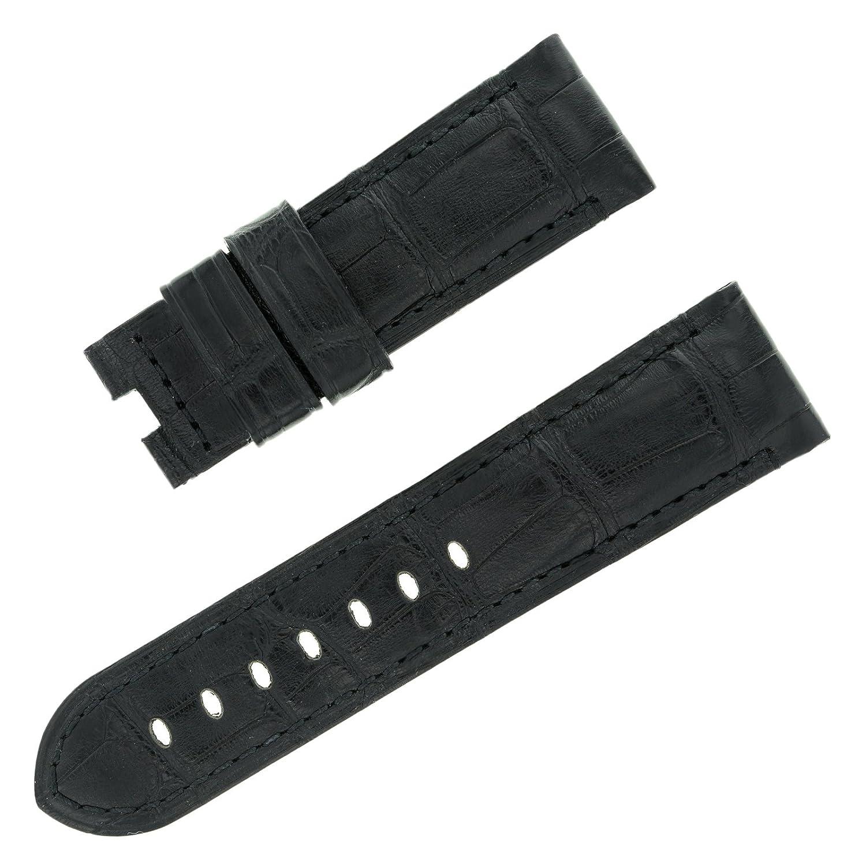 Officine Panerai 24–22 mm schwarz Alligator Leder Herren-Armbanduhr Band