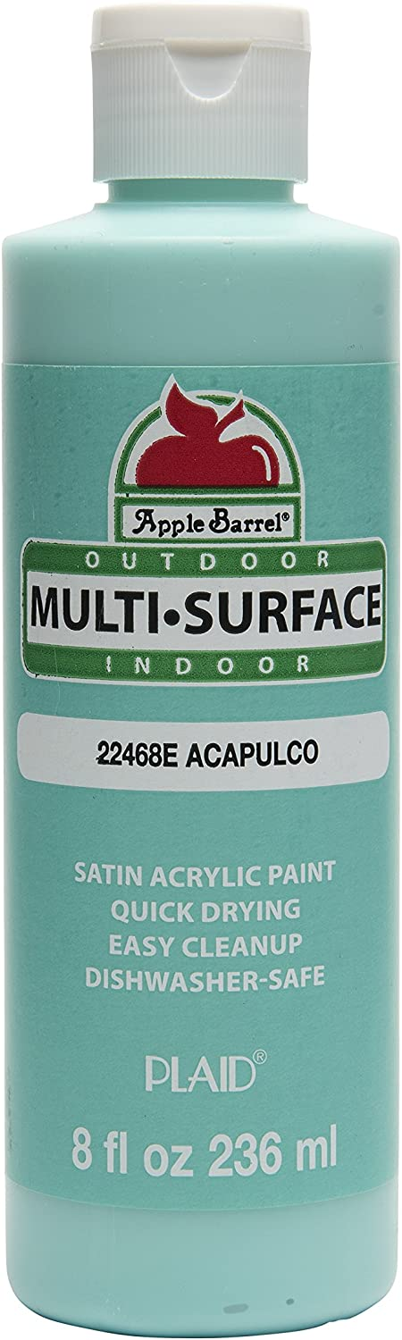 Apple Barrel Multi-Surface Paint in Assorted Colors (8 oz), Acapulco