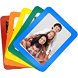 TOPINSTOCK 4x6 Inches Magnetic Picture Frame 5 Colors Combo Set Refrigerator Magnet Creative Family Photo Frames