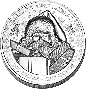 2020 Father Christmas 50p Mintage 2020 NU Modern Commemorative PowerCoin Merry Christmas Santa Claus