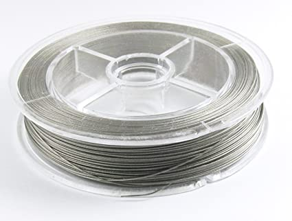What Is Tigertail Wire   Amazon Com 100m Beading Wire Jewelry Cord Silver Tiger Tail 0 38mm
