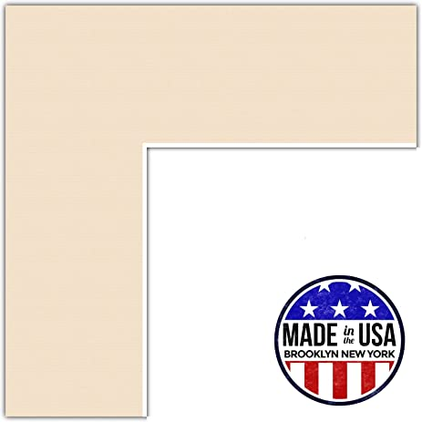 Amazon.com: 20x30 Beige / French Creme Custom Mat for Picture Frame ...