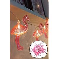 10'lu Pilli Led Flamingo Dekoratif Işık Zinciri Aydınlatma 1,5 Metre