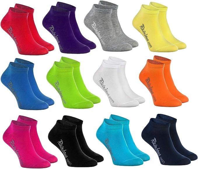Rainbow Socks - Niños y Niñas - Calcetines Cortos de Algodón ...