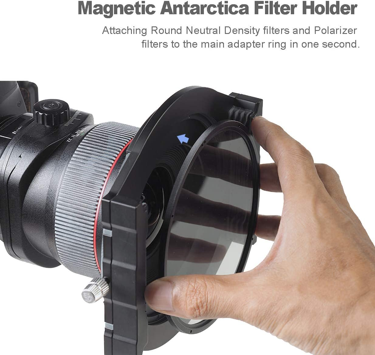 Progrey 100mm Square Filter Holder with Antarctica Circular Polarizing Filter Come with Compatible 67mm//72mm//77mm Adapter Ring by Emperor of Gadgets
