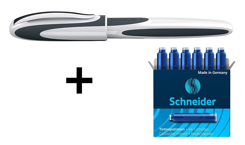 penna a/cartuccia Schneider per destrorsi e mancini colore bianco//grigio 187849