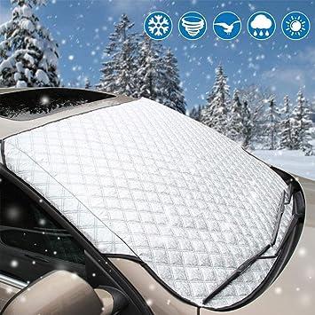 VOYAGO Parabrisas Protectora, Auto de Parabrisas Nieve Techo - Parabrisas Protectora Protección Solar para Limpiaparabrisas: Amazon.es: Coche y moto