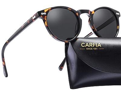 Carfia Vintage Round Polarized Sunglasses