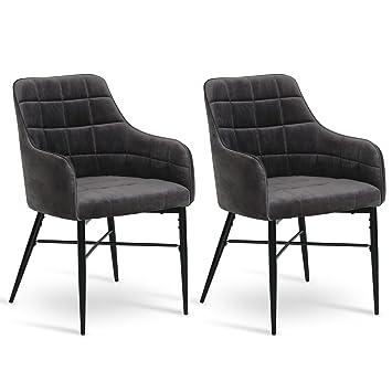 Woltu, 2 sillas de Comedor sillas de Cocina tapizadas sillas ...