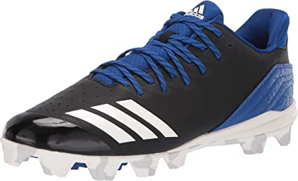 Adidas Icon 4 MD Bounce Adult Men/'s Molded Baseball Cleats Black//White