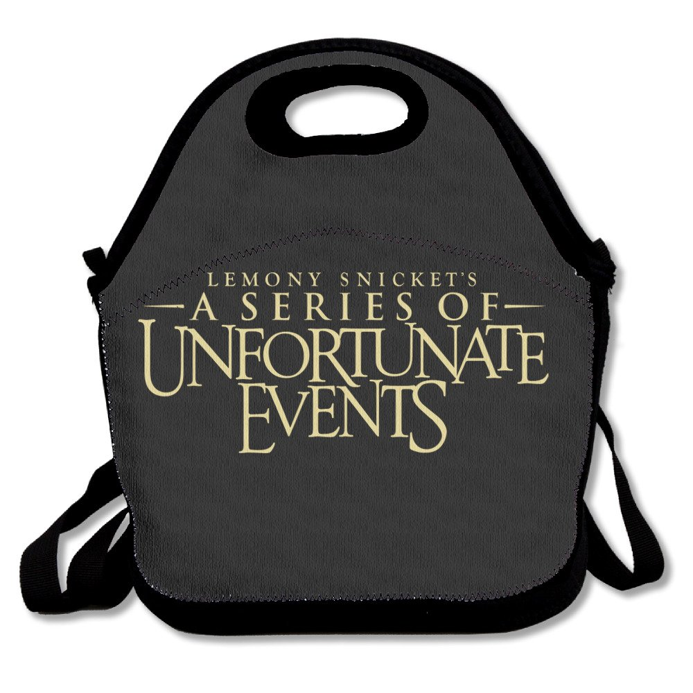 A Series Of Unfortunate Events Lunch Bag Lunch Boxes, Waterproof Outdoor Travel Picnic Lunch Box Bag Tote With Zipper And Adjustable Crossbody Strap HAULKOO