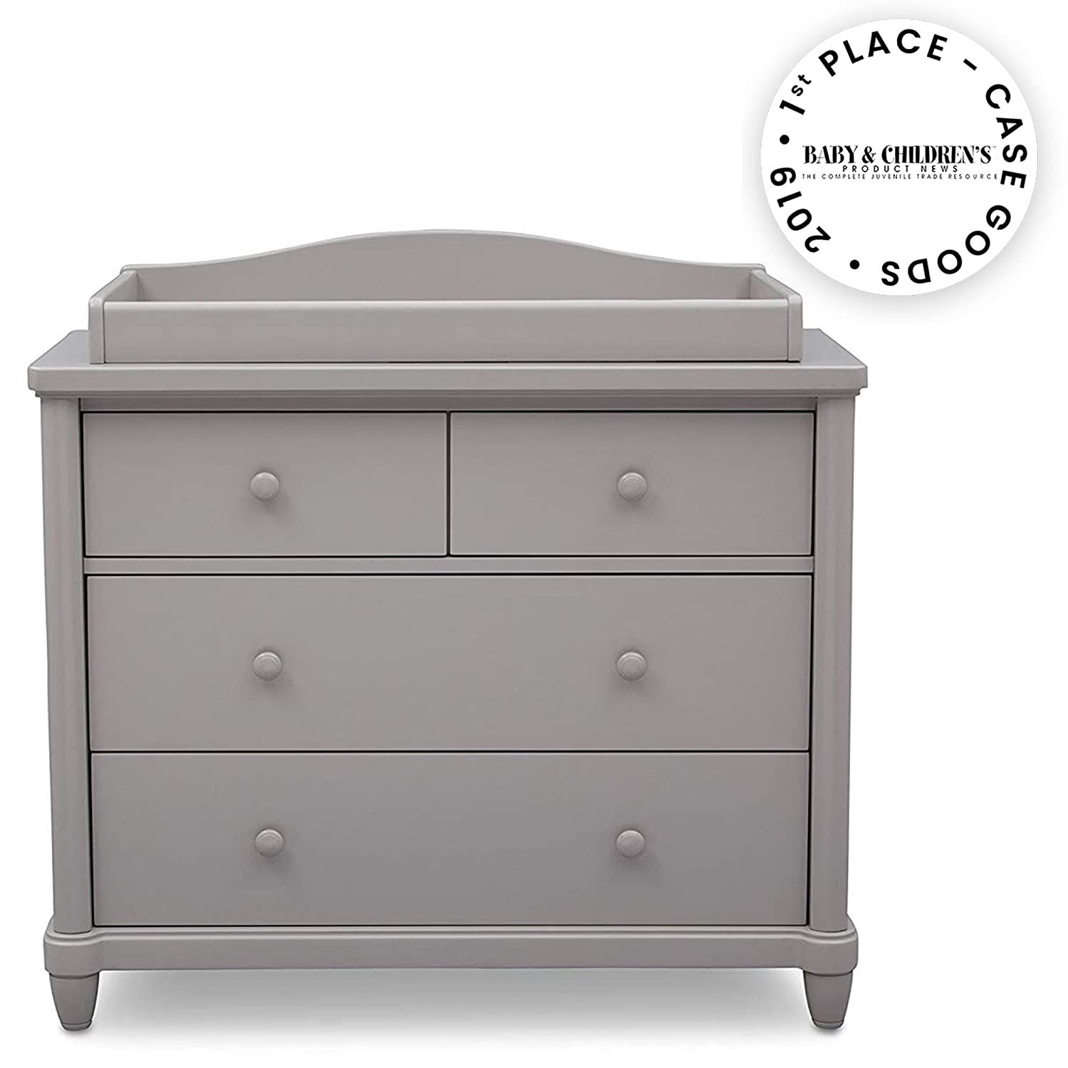 Simmons Kids Belmont 4 Drawer Dresser with Changing Top, Grey