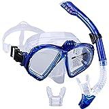 Supertrip Premium Schnorchelset erwachsene Taucherbrille mit Schnorchel Tauchset Tauchmaske gopro mit kamera halterung Tauchen dry Schnorcheln Set