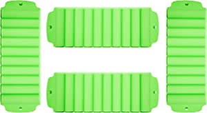 Set of 4 Ice Roll Trays! Perfect For Water Bottles, Bars, Water Pipes, and Ice Cube Sticks For Bottled Beverages, Water Bottles, Sport Drinks, Bottled Soda! (4, Green)