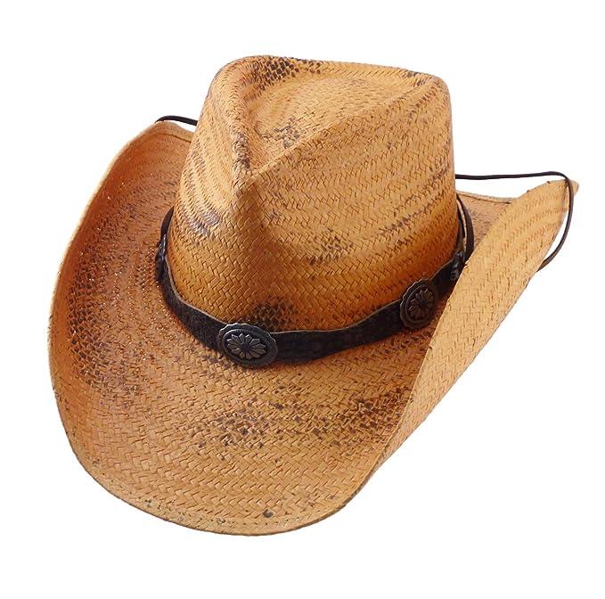 XXL S Stars /& Stripes Hut Western Cowboyhut Western Strohhut Red Rock Gr