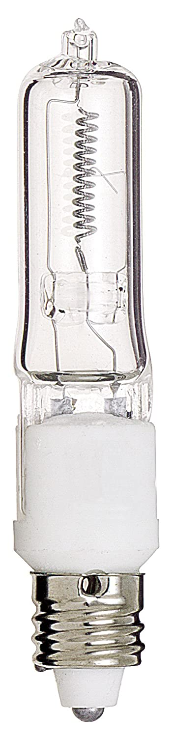 Satco Products S3157 120V 75-Watt T4 E11 Base Light Bulb, Clear