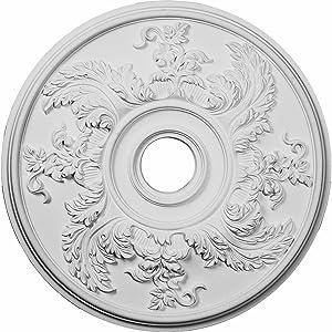 Ekena Millwork CM23AC Acanthus Twist Ceiling Medallion, 23 5/8
