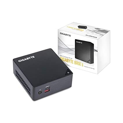 GIGABYTE Mini PC BRIX GB-BKi3HA-7100 Ultra Compact PC Kit Intel® 7th Generation Core i3 Processor,HDMI Plus Mini DisplayPort Outputs,Dual Band Wi-Fi & Bluetooth 4.2,2 x USB 3.0,2xUSB 3.1,VESA Holder