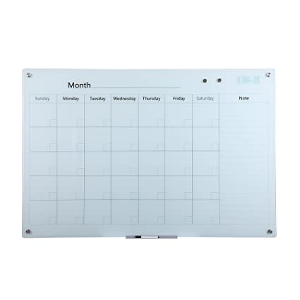 Amazon.com : CO-Z Magnetic Glass Dry Erase Board Frameless ...