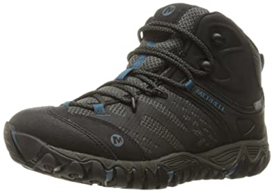 Merrell Damen All Out Blaze Vent Mid Waterproof Wandern Stiefel, 42.5 B(M) EU, Schwarz